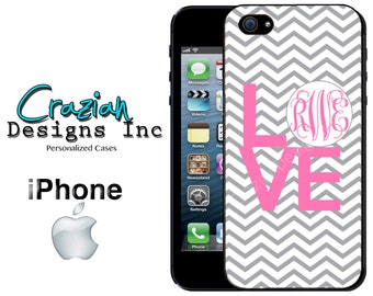 iPhone 6 6 Plus Case -  Monogram iPhone 5C Case - Chevron iPhone 5S Case - iPhone Case - Monogrammed iPhone 5 Case - iPhone 4 Case