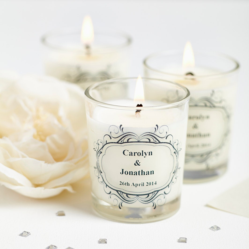Wedding Gift Candles: 10 X Wedding Favours Personalised Scented Candles. Winter