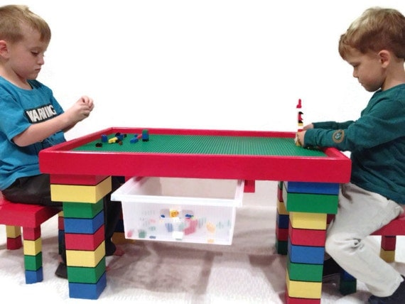 Kids Table and Chairs Lego Table Kids Table with Storage