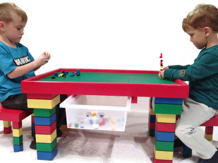 Lego Furniture For Kids kids table and chairs lego table kids table with storage