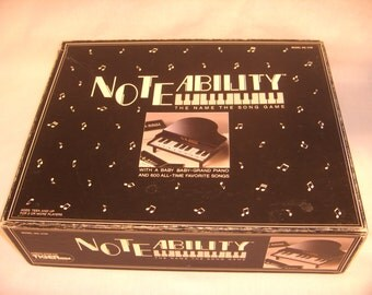NOTEABILITY Game by Tiger The Name the Song Game 1990
