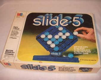 SLIDE 5 Game by Milton Bradley 1980 Two Player Strategy Game