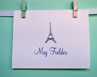 Eiffel Tower Personalized Stationary (Set of 12)