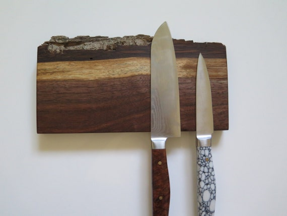 8 Magnetic Knife Rack American Walnut Natural Edge Knife