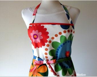 Apron full apron kittchen womans apron Flower