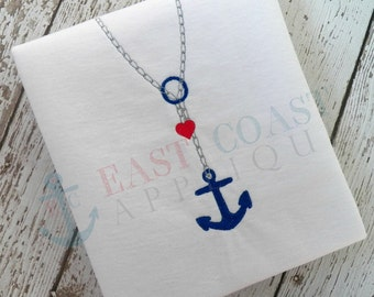 ANCHOR DROP NECKLACE machine embroidery design