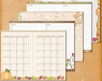 Fall Thanksgiving Filofax Franklin Covey A5 Printable Planner Pages