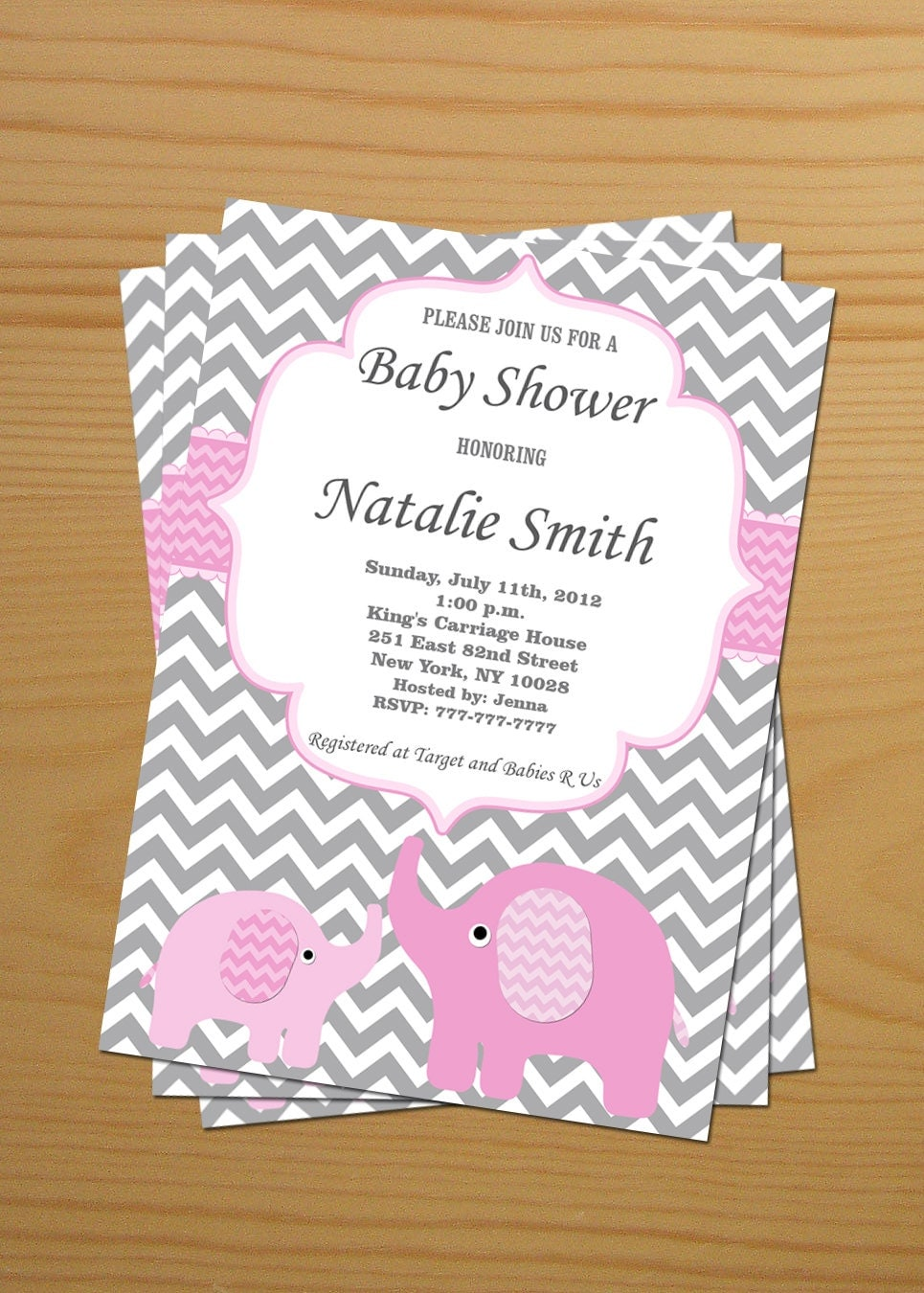 baby shower invitations baby shower invitation elephant baby shower invitation 12235
