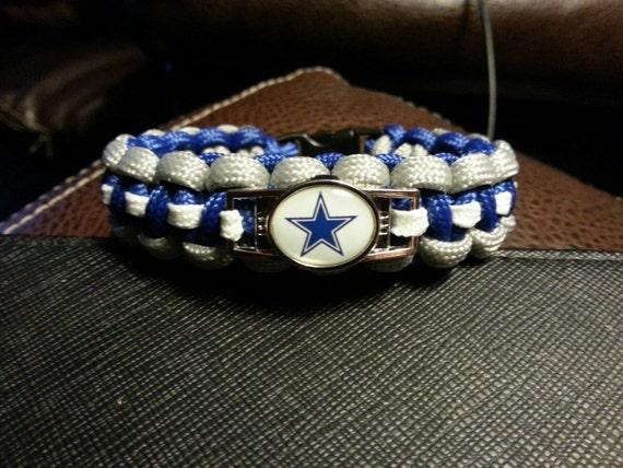 items similar to dallas cowboys paracord charm bracelet on. Black Bedroom Furniture Sets. Home Design Ideas