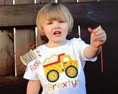 Custom Boys Summer Dump Truck T-Shirt - Personalized Applique and Embroidery Shirt - Construction - Toddler and Youth - Boy Top