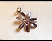 Sterling Silver Flower Pendant with Amethyst
