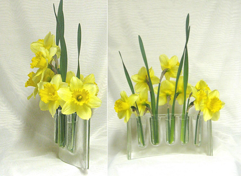 Curved Clear Glass Vase Glass Vases Flower Arranging Fresh
