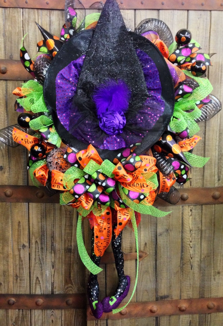Witch Legs Mesh Wreath