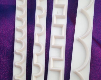 Polymer Clay Cutters Round and Square Fancy Scallop Cutters for Polymer Clay