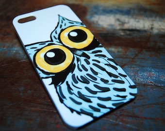 Big Owl Eyes Print Case For iPhone 6 / (4.7) / 4.7 / 5c / 5s / 5 / 4s / 4 Hard Plastic Owls Hoot Who Hooters Phone Cases c38