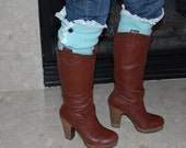 2 PAIRS of Trendy Womens Knit Boot Socks, Leg Warmers, Cream Lace, Buttons, Peek a Boo, Ladies, Adult, Black, Cream, Light gray, Tan, Brown