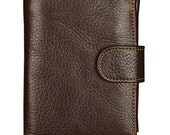 100% Handmade Leather Pures /Leather Wallet/men wallet/ Leather iphone 4s/5 walletBa/BROWN/men wallet/mens wallets