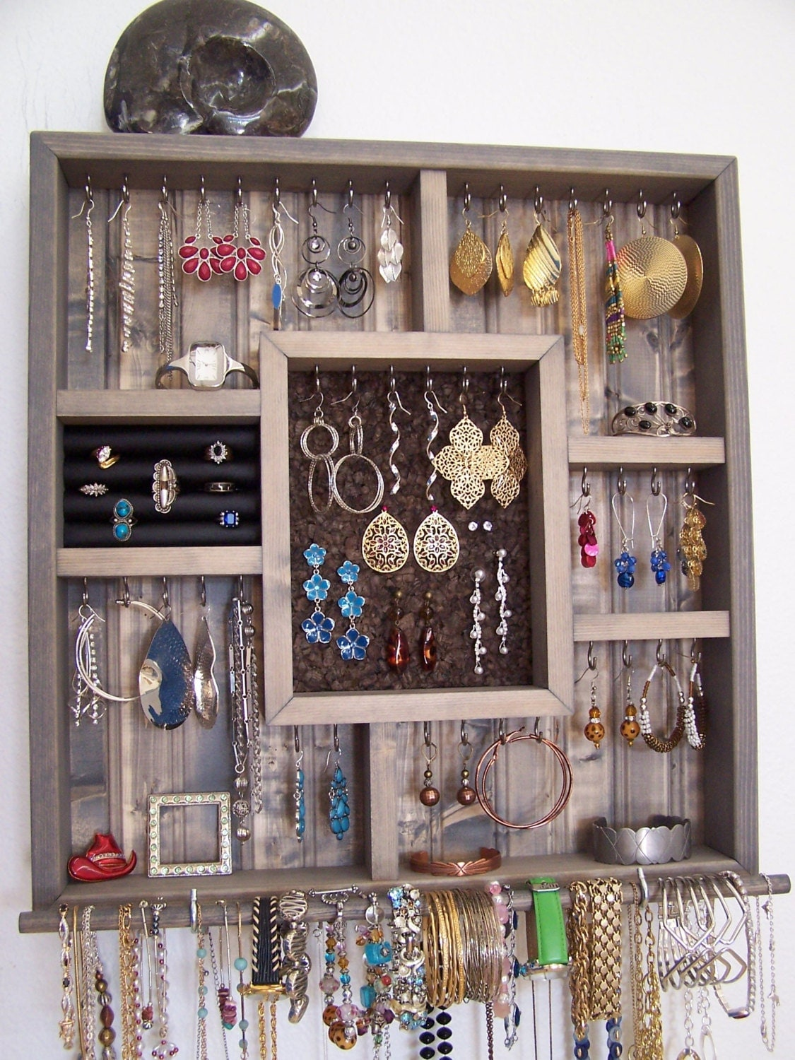College Dorm Room Decor Jewelry Holder With Bracelet Bar ~ 170956_Etsy Dorm Room Ideas