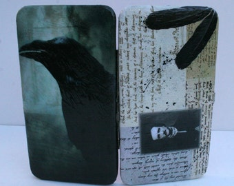 Edgar Allan Poe Wallet The Raven Wallet Nevermore Wallet Gothic Wallet Decoupage Wallet