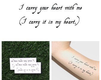 Carryout - Temporary Tattoo (Set of 2)