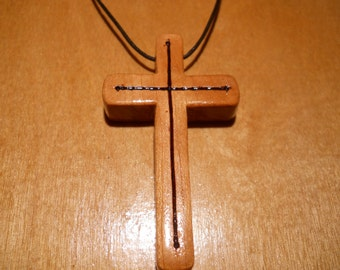 Wooden Cross Necklace (k)