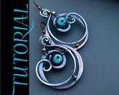 Tutorial - The Seed Within - Wire Wrapped Mixed Metal Earrings with Turquoise Stones