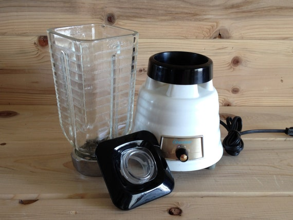 Vintage Osterizer Beehive Blender Model 235 2 Speed Black And