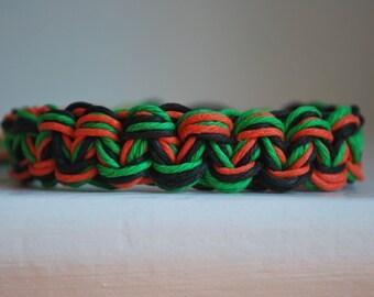 Thick Halloween Inspired Multi-Colored Hemp Bracelet