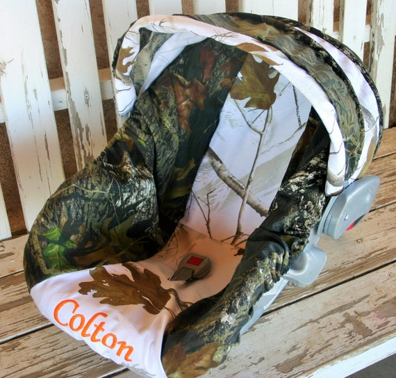 Mossy Oak Camo W Realtree Snow Camo Car Seat Cover And Hood