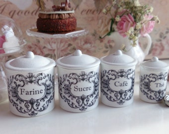 Sweetest Cupcakes Kitchen Metal Canisters By