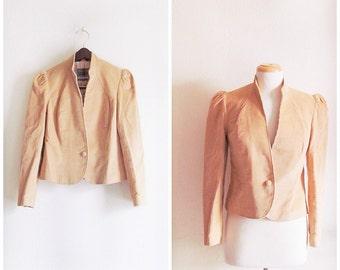 Cowgirl Up // Vintage 70s Coat Jacket // 1970s Tan Corduroy Coat Jacket