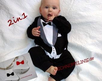 tuxedo onesie, Baby tuxedo + BIB, baby tuxedo onesie - quality infant tuxedo mother day, wedding, 1st party + BIB