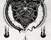 Altar Serpentes - artist signed print