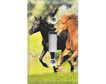 Running Horses Light Switch Cover