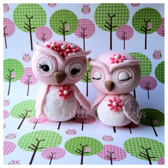 Mommy and Baby Owl Cake Topper.