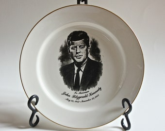 Vintage Homer Laughlin John Fitzgerald Kennedy Memorial Plate