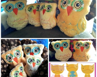Owl softie family. Soft and fluffy and oh so cute.