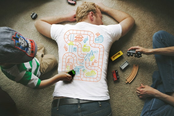 2xl dads train shirt fathers day gift from baby like this item negle Gallery