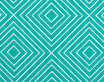 Patty Young for Michael Miller Diamonds in Teal - 1 yard