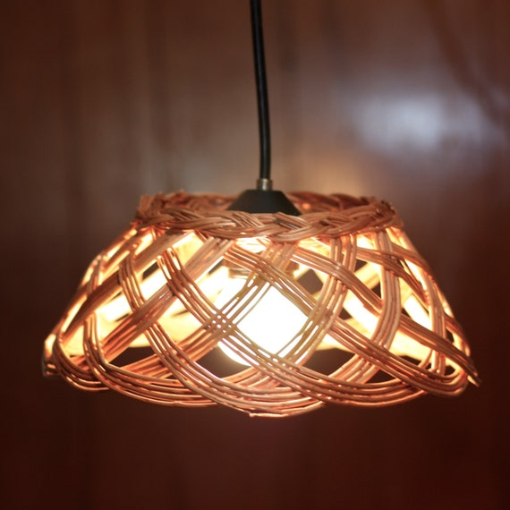 items similar to basket pendant light repurposed basket
