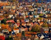"""Mt. Washington Back 40: a """"GigaBurgh"""" painting by Meg Dooley (2013)"""