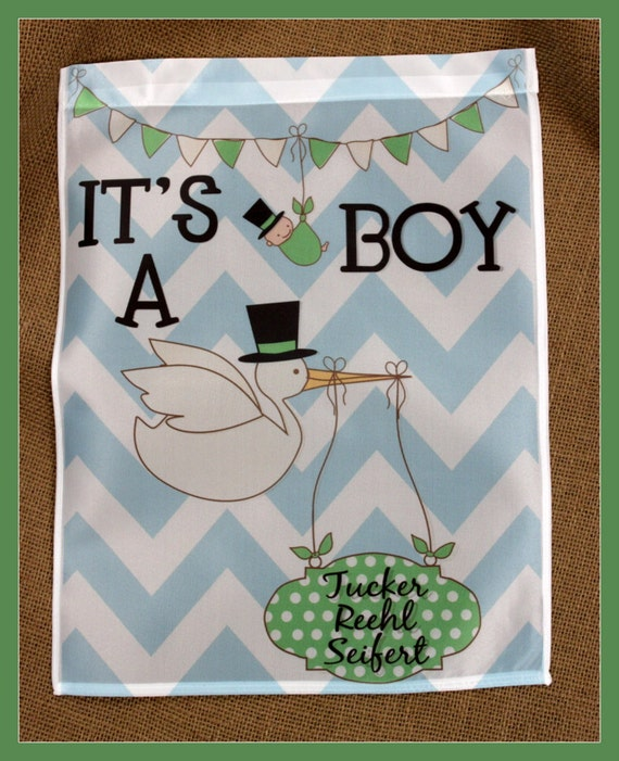 Its A Boy Garden Flag Personalized Baby Announcement Baby Boy Baby Girl New Baby Creative Gender Reveal Ideas Custom Garden Flag Name
