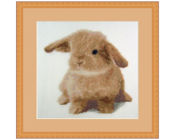 Sweet as Honey, Cross Stitch Kit Bunny Rabbit, Animal, Cute