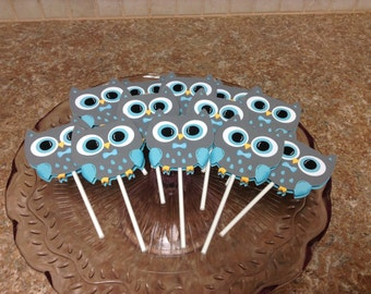 Boy Owl Cupcake Toppers