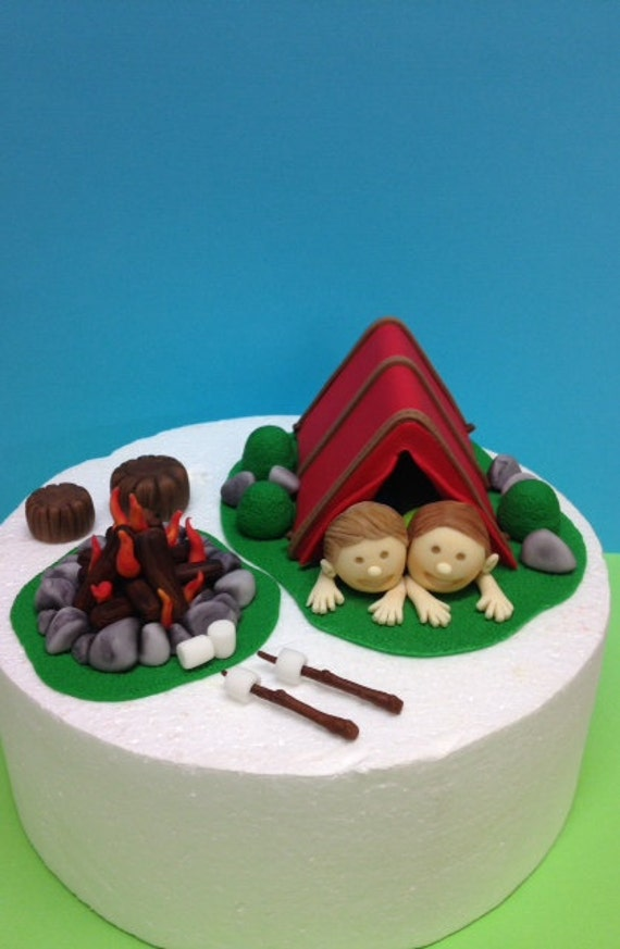 Like this item? & Fondant Camping Cake Topper Camping Birthday Fondant tent