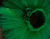 Emerald GreenTutu and Headband, Newborn Tutu, Infant Tutu, Baby Tutu, Solid Color Tutu, Toddler Tutu