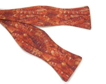 Bacon bowtie, Bacon gift, mens bowtie, mens bacon gift, pig bowtie, meat bowtie, food bowtie, bacon tie, bacon bow tie, bacon novelty