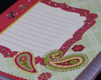 Pink Paisley Notes Altered Composition Book (8060)