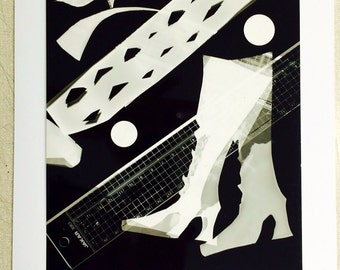 Photogram titled 'boots'