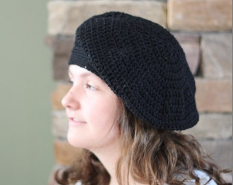 Free Shipping Available! Sparkling Slouchy Crocheted Beret Cap